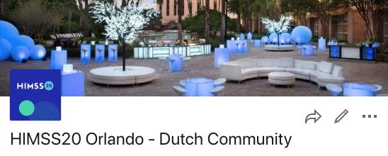 HIMSS20 Orlando Dutch Community HIMSS Cognicum Nictiz VMBI